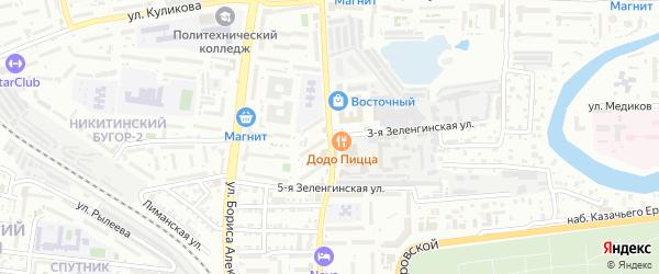 3-я Зеленгинская улица на карте Астрахани с номерами домов