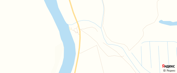 Карта села Нижнекалиново в Астраханской области с улицами и номерами домов