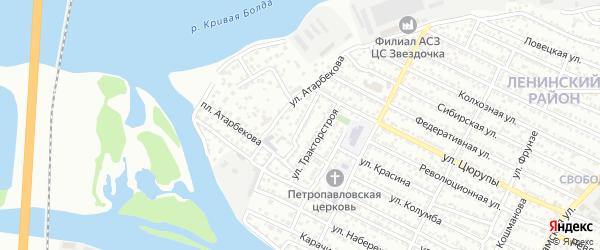 Плавецкий переулок на карте Астрахани с номерами домов