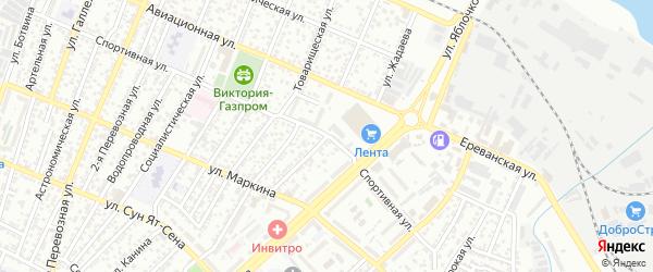Улица Жадаева на карте Астрахани с номерами домов