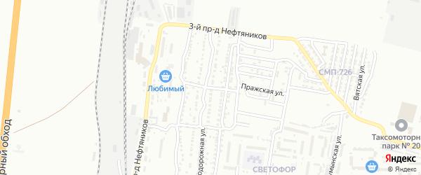 3-й Железнодорожный переулок на карте Астрахани с номерами домов