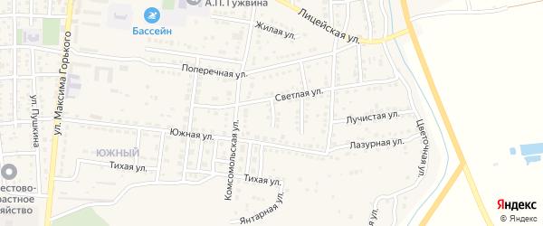 Российская улица на карте Камызяка с номерами домов