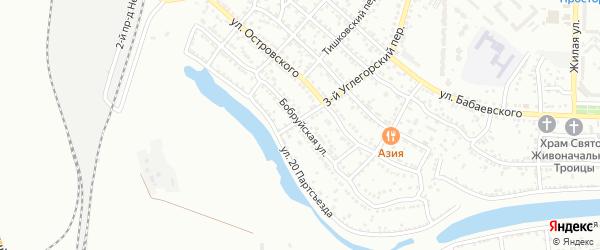 Бобруйская улица на карте Астрахани с номерами домов