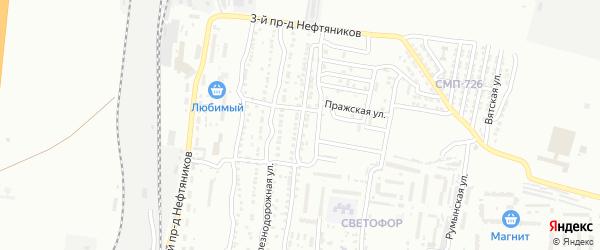 8-я Железнодорожная улица на карте Астрахани с номерами домов