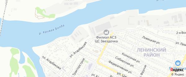 Улица Атарбекова на карте Астрахани с номерами домов