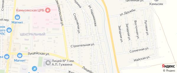 Совхозная улица на карте Камызяка с номерами домов