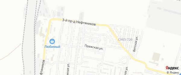 Краснодонская улица на карте Астрахани с номерами домов