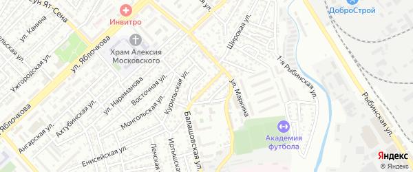 Балашовский переулок на карте Астрахани с номерами домов
