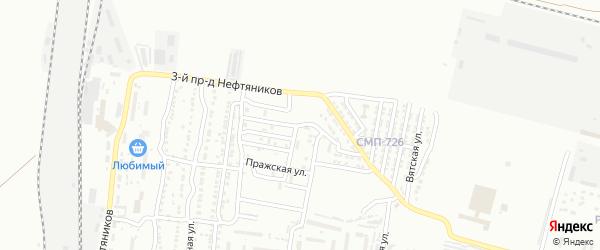 Красногвардейская улица на карте Астрахани с номерами домов