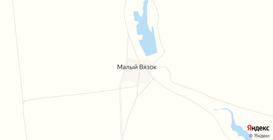Карта хутора Малый Вязок в Саратовской области с улицами, домами и почтовыми отделениями со спутника онлайн