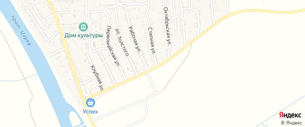 Степная улица на карте поселка Кирпичного Завода N1 Астраханской области с номерами домов