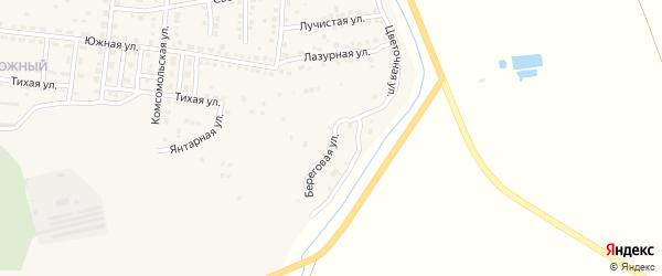 Береговая улица на карте Камызяка с номерами домов