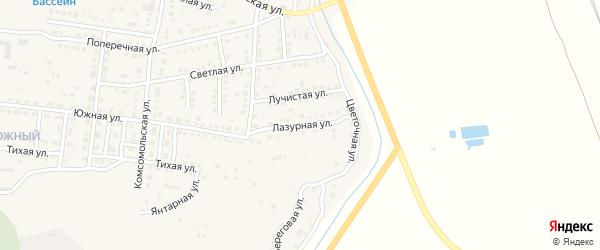 Лазурная улица на карте Камызяка с номерами домов