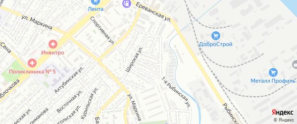 Калужская улица на карте Астрахани с номерами домов