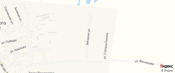 Звездная улица на карте поселка Кирпичного Завода N1 Астраханской области с номерами домов