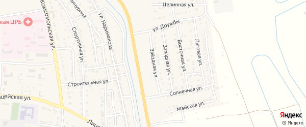 Звездная улица на карте Камызяка с номерами домов