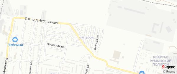 Аджарская улица на карте Астрахани с номерами домов