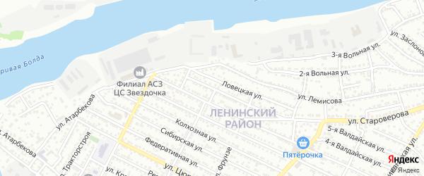 Улица Волховстроя на карте Астрахани с номерами домов