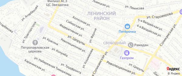 Улица Фрунзе на карте Астрахани с номерами домов