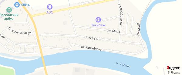 Новая улица на карте Камызяка с номерами домов