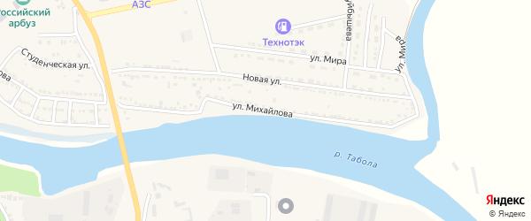 Улица Михайлова на карте Камызяка с номерами домов