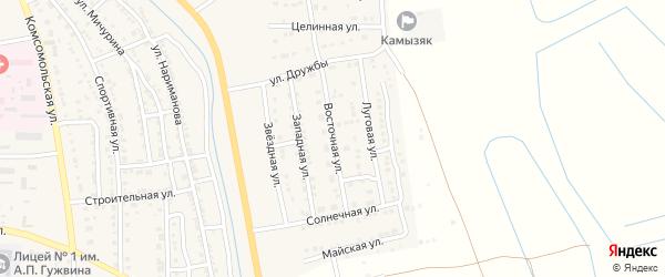 Восточная улица на карте Камызяка с номерами домов