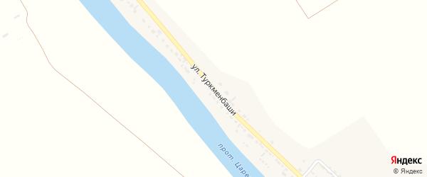 Улица Туркменбаши на карте села Фунтово-1 Астраханской области с номерами домов