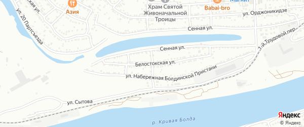 Болдинской пристани 2-й проезд на карте Астрахани с номерами домов