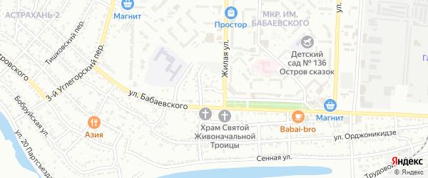 2-й Сенной переулок на карте Астрахани с номерами домов