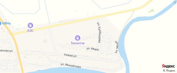Улица Чкалова на карте Кировского поселка Астраханской области с номерами домов