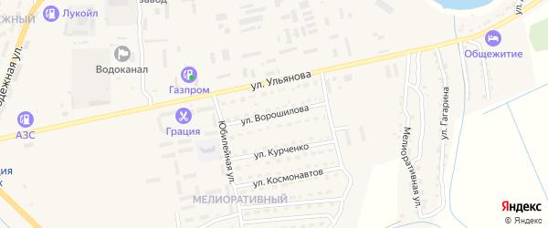 Улица Ворошилова на карте Камызяка с номерами домов