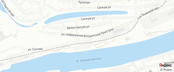 Улица Набережная Болдинской Пристани на карте Астрахани с номерами домов