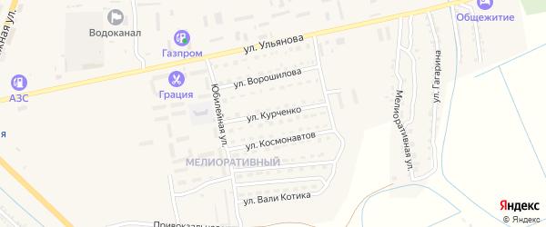 Улица Курченко на карте Камызяка с номерами домов