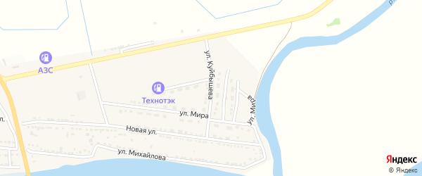 Улица Куйбышева на карте Камызяка с номерами домов