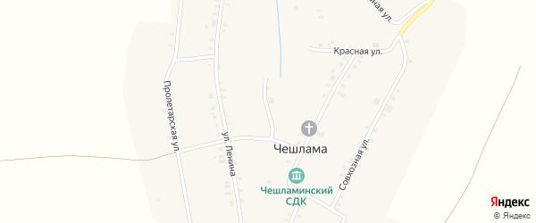 Набережная улица на карте деревни Чешламы с номерами домов