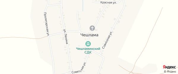 Советская улица на карте деревни Чешламы с номерами домов
