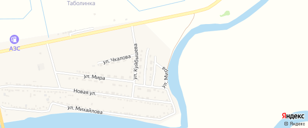 Улица Свердлова на карте Камызяка с номерами домов
