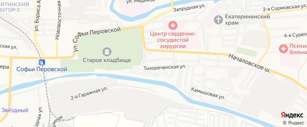 Садовое товарищество Юбилейный год на карте Астрахани с номерами домов