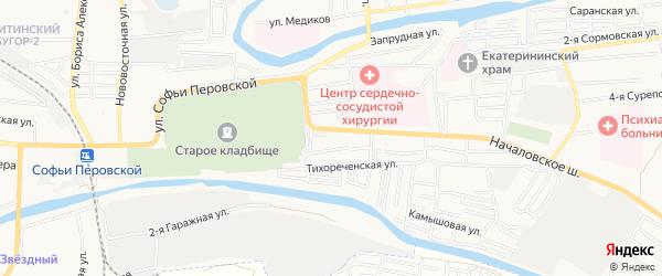 Садовое товарищество Транспортник на карте Астрахани с номерами домов
