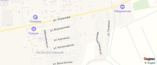 Гражданский переулок на карте Камызяка с номерами домов