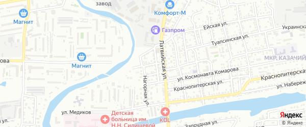 Алуштинский переулок на карте Астрахани с номерами домов