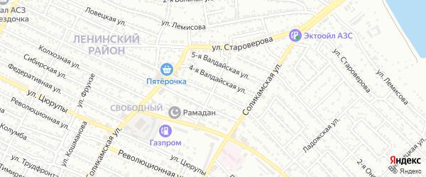 1-я Соликамская улица на карте Астрахани с номерами домов