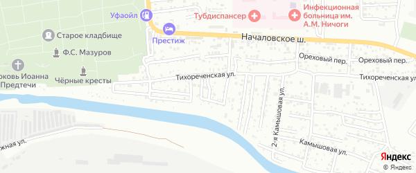Кутумный переулок на карте Астрахани с номерами домов