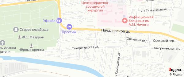 2-я Тихореченская улица на карте Астрахани с номерами домов