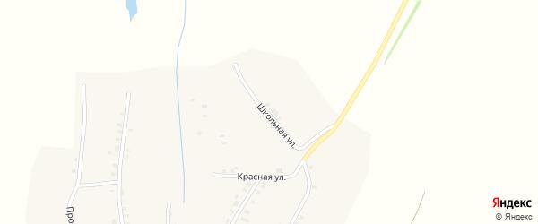 Школьная улица на карте деревни Чешламы с номерами домов