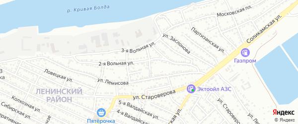 Переулок Лемисова на карте Астрахани с номерами домов