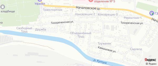 Полесский 1-й переулок на карте Астрахани с номерами домов