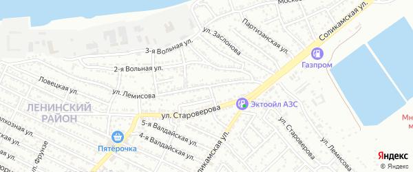 Улица Лемисова на карте Астрахани с номерами домов