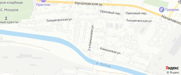 2-я Камышовая улица на карте Астрахани с номерами домов
