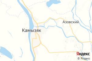 Карта г. Камызяк Астраханская область
